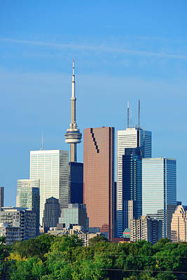 Photograph - Toronto Skyline by Songquan Deng