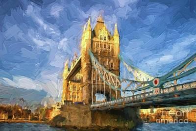 Digital Art - Tower Bridge In London by Patricia Hofmeester