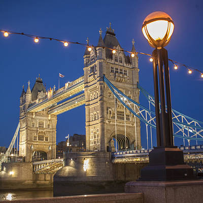 Thomas Kinkade Rights Managed Images - Tower Bridge  Royalty-Free Image by Richard Nowitz