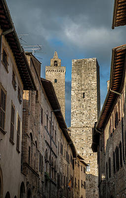 Photograph - Towers In San Gimignano, Italy by Radoslav Nedelchev