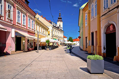Photograph - Town Of Cakovec Main Street View by Brch Photography