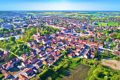Photograph - Town Of Koprivnica Aerial View by Brch Photography