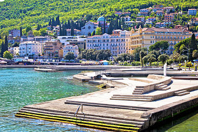 Photograph - Town Of Opatija Waterfront View by Brch Photography