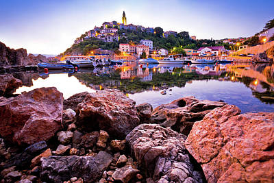 Photograph - Town Of Vrbnik Harbor View Morning Glow by Brch Photography