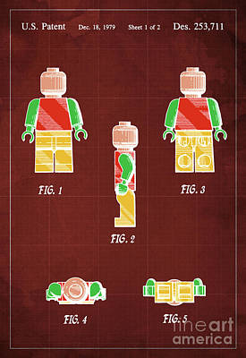 Toy Figure Patent Year 1979 Art Print