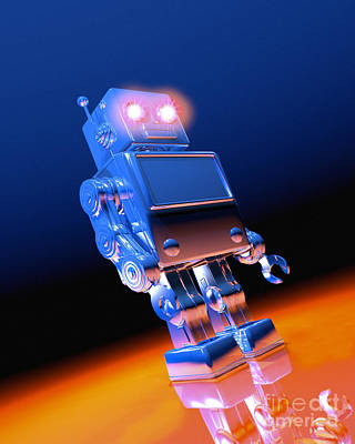 Photograph - Toy Robot by Victor Habbick Visions