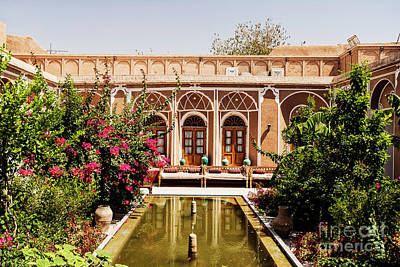 Photograph - Traditional Middle Eastern Home Interior Garden In Yazd Iran  by Jacek Malipan