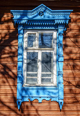 Photograph - Traditional Old Russian House Facade by Alexey Stiop