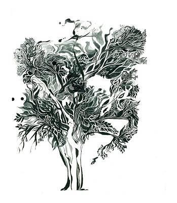 Shadow Tree Wave Print by Joshua Beard