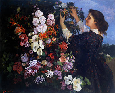 Outside Painting - Trellis by Gustave Courbet