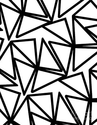 Abstract Forms Digital Art - Triangles by Louisa Knight