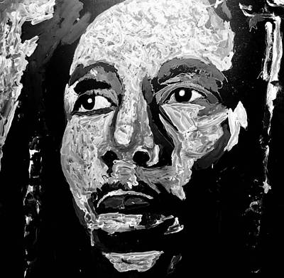 Painting - Tribute To Bob Marley by Neal Barbosa