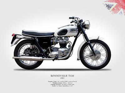 Motorcycle Photograph - Triumph Bonneville 1963 by Mark Rogan