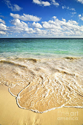 Modern Sophistication Beaches And Waves - Wave on tropical beach  by Elena Elisseeva