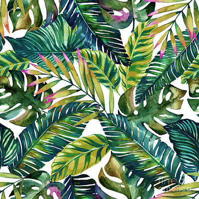Pattern Photograph - Tropical  by Mark Ashkenazi
