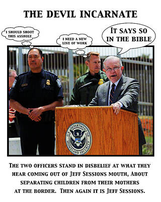 Digital Art - Trumps Border Policy by Joe  Palermo