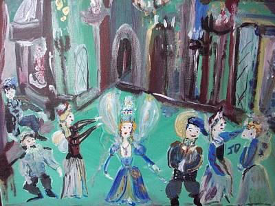 Tudor Fairies Art Print by Judith Desrosiers