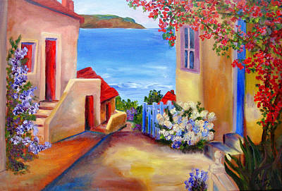 Painting - Tuscany Village  by Mary Jo Zorad