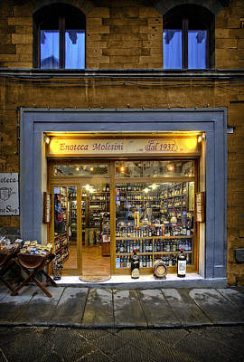 Tuscany Wine Shop Art Print by Al Hurley