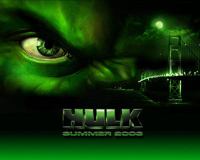 Tv Movies The Hulk                   Art Print