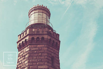 Twin Lights Lighthouse Atlantic Highlands New Jersey Art Print by Erin Cadigan