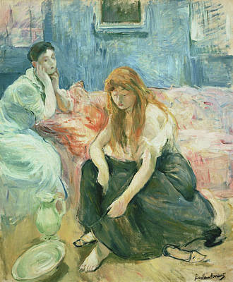 Dressing Painting - Two Girls by Berthe Morisot