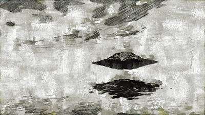 Cia Painting - Ufo By Raphael Terra And Mary Bassett by Raphael Terra