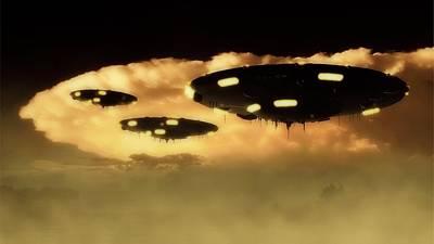 Ufo Invasion Force Art Print