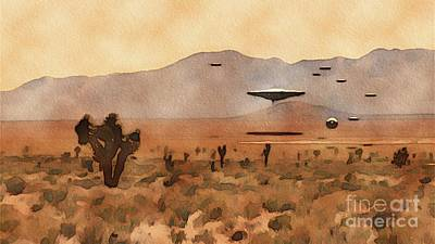 Science Fiction Royalty-Free and Rights-Managed Images - UFO Invasion by Raphael Terra