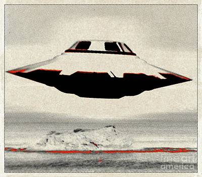 Ufo Pop Art By Raphael Terra Art Print
