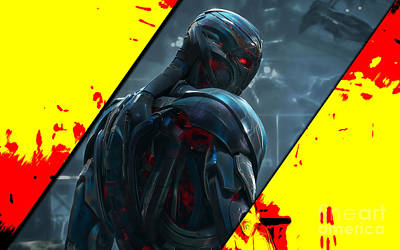 Art Book Mixed Media - Ultron Collection by Marvin Blaine