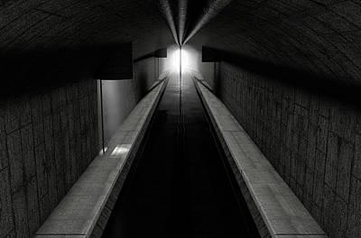 Canals Digital Art - Underground Sewer by Allan Swart