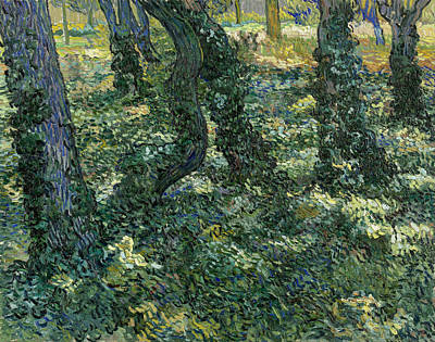 Dutch Painting - Undergrowth by Vincent van Gogh