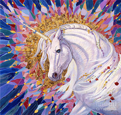 Unicorn Painting - Unicorn II by Silvia  Duran