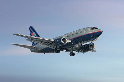 Mixed Media - United Airlines Boeing 737-522 by Smart Aviation