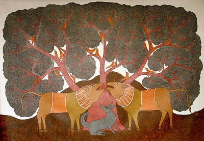 Gond Painting - Untitled by Bhajju Shyam