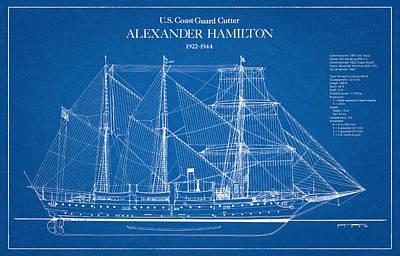 Drawing Digital Art - U.s. Coast Guard Cutter Alexander Hamilton by Jose Elias - Sofia Pereira