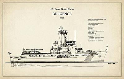 Ship Digital Art - U.s. Coast Guard Cutter Diligence by Jose Elias - Sofia Pereira