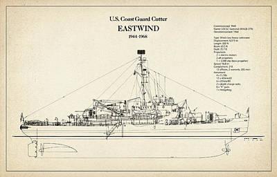U.s. Coast Guard Cutter Eastwind Art Print by Jose Elias - Sofia Pereira
