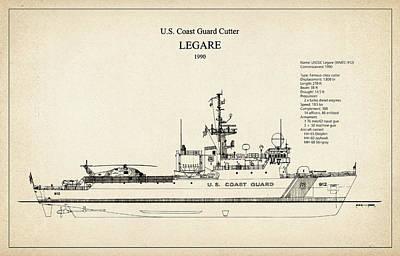 U.s. Coast Guard Cutter Legare Art Print by Jose Elias - Sofia Pereira