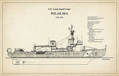 Oceans 11 Digital Art - U.s. Coast Guard Cutter Polar Sea by Jose Elias - Sofia Pereira