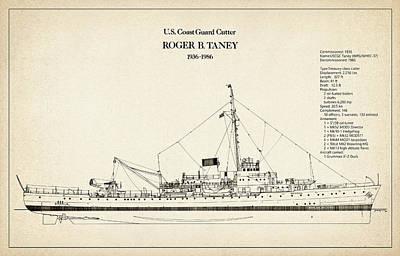 Ship Digital Art - U.s. Coast Guard Cutter Roger B. Taney by Jose Elias - Sofia Pereira