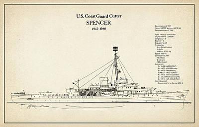 Ship Digital Art - U.s. Coast Guard Cutter Spencer by Jose Elias - Sofia Pereira