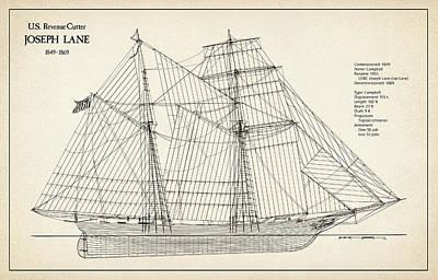 U.s. Coast Guard Revenue Cutter Joseph Lane Art Print