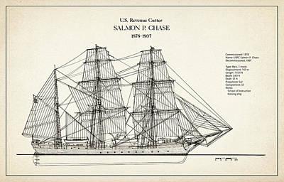 U.s. Coast Guard Revenue Cutter Salmon P. Chase Art Print