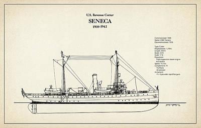 U.s. Coast Guard Revenue Cutter Seneca Art Print by Jose Elias - Sofia Pereira
