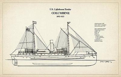 U.s. Coast Guard Tender Columbine Art Print by Jose Elias - Sofia Pereira