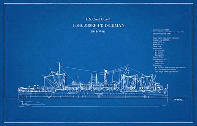 Drawing Digital Art - U.s. Coast Guard U.s.s. Joseph T. Dickman by Jose Elias - Sofia Pereira