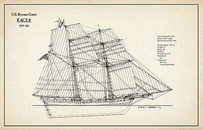 U.s. Revenue Cutter Eagle - 18th Century Art Print
