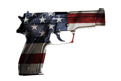 Self Digital Art - Usa Gun  by Les Cunliffe